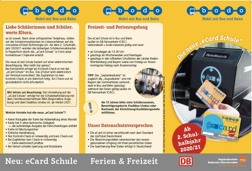 Infos zu Schülermonatskarten von Bodo